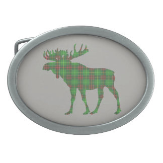 Newfoundland tartan moose belt buckle