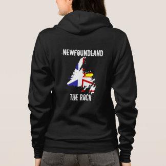 Newfoundland The Rock on back of shirt