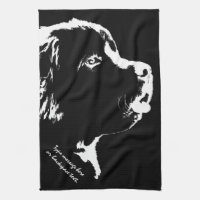 Newfoundland Towel Personalized Dog Tea Towel