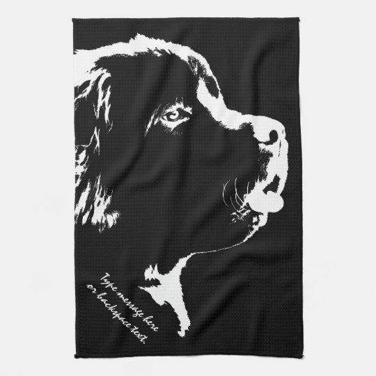 Newfoundland Towel Personalized Dog Tea Towel