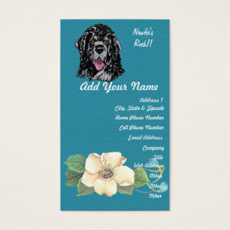 Newfoundland - Turquoise Floral Design Business Card
