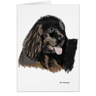 Newfoundland water dog. card