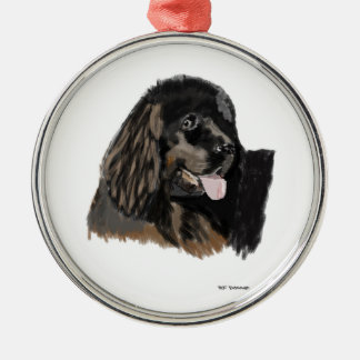 Newfoundland water dog metal ornament