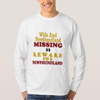Newfoundland & Wife Missing Reward For Newfoundlan T-Shirt