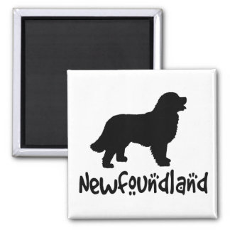 Newfoundland With Cool Text 2 Inch Square Magnet