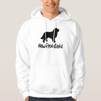 Newfoundland With Cool Text Hoodie