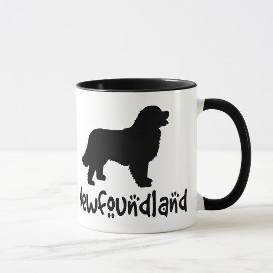 Newfoundland With Cool Text Mug