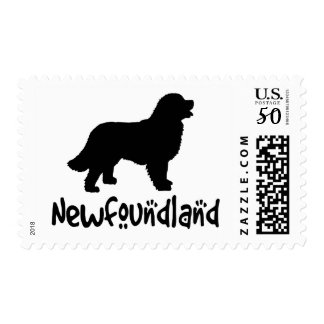 Newfoundland With Cool Text Postage