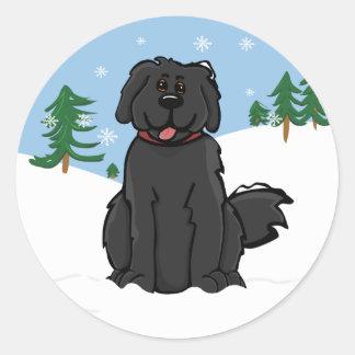 Newfy en pegatina de la nieve