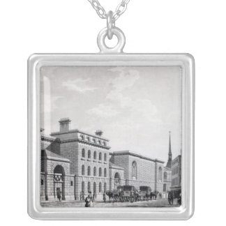 Newgate prison, 1799 silver plated necklace