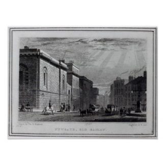 Newgate prison and the Old Bailey Poster
