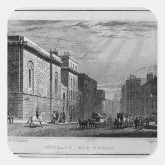 Newgate prison and the Old Bailey Square Sticker