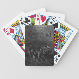 Newgate Prison Exercise Yard Bicycle Playing Cards