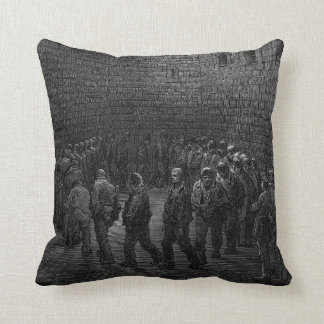 Newgate Prison Exercise Yard Throw Pillow