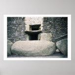 Newgrange Ireland, Ancient Spiral Stone Symbols Poster