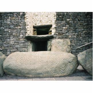 Newgrange Irlanda, símbolos espirales antiguos Fotoescultura Vertical