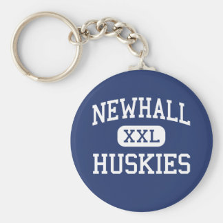 Newhall Huskies Middle Wyoming Michigan Basic Round Button Keychain