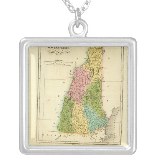 NewHampshire US Silver Plated Necklace