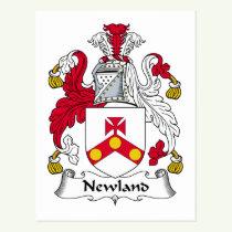 Newland Family Crest Postcard