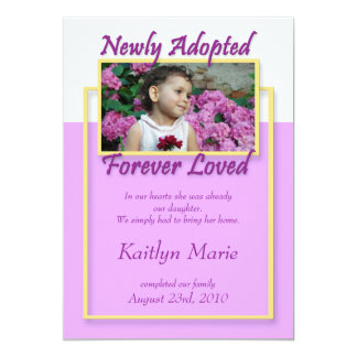 Newly Adopted, Forever Loved ~ Announcements
