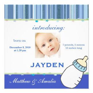 Newly Born Baby Boy Announcement
