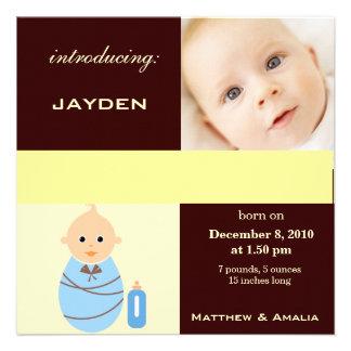 Newly Born Baby Boy Invites