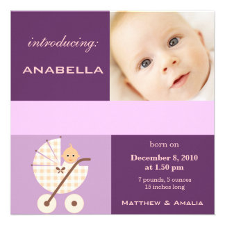 Newly Born Baby Girl Personalized Invites