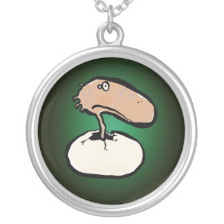 newly born round pendant necklace
