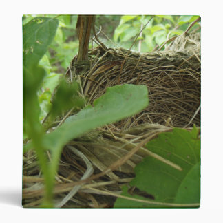 Newly Built but Empty Bird Nest in a Mulberry Tree 3 Ring Binder
