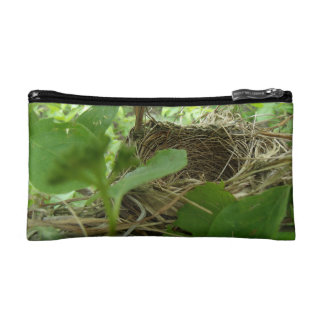 Newly Built but Empty Bird Nest in a Mulberry Tree Cosmetic Bag