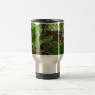 Newly Built but Empty Bird Nest in a Mulberry Tree 15 Oz Stainless Steel Travel Mug