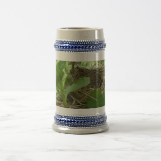 Newly Built but Empty Bird Nest in a Mulberry Tree 18 Oz Beer Stein