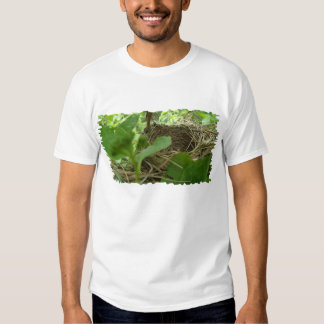Newly Built but Empty Bird Nest in a Mulberry Tree Tee Shirts