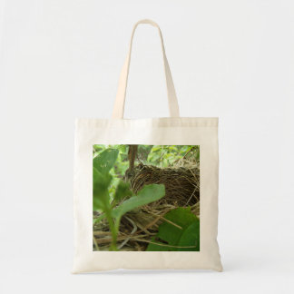 Newly Built but Empty Bird Nest in a Mulberry Tree Tote Bag