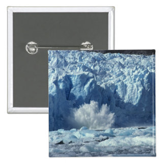 Newly-calved iceberg splashing into chilly 2 inch square button