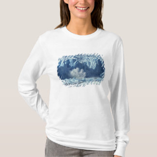 Newly-calved iceberg splashing into chilly T-Shirt