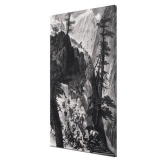 Newly Discovered Mines in the Rocky Mountains Canvas Print