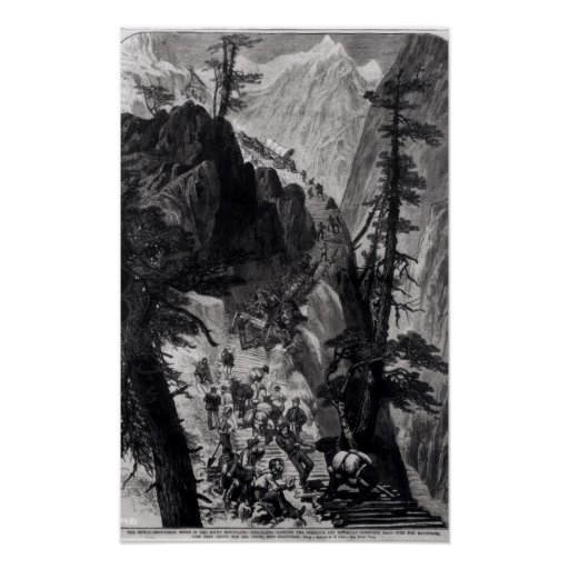 Newly Discovered Mines in the Rocky Mountains Poster