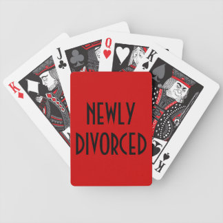 Newly Divorced Playing Cards