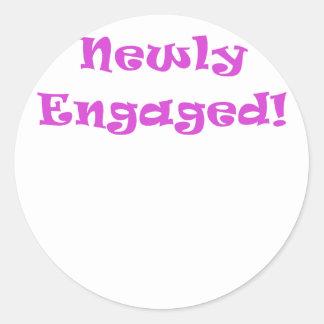 Newly Engaged Classic Round Sticker