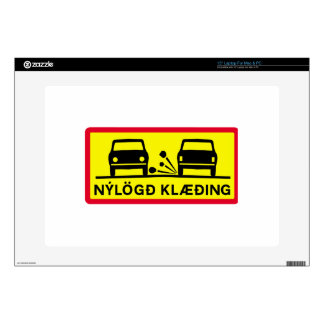 "Newly-Laid Road Surface, Traffic Sign, Iceland Skin For 15"" Laptop"