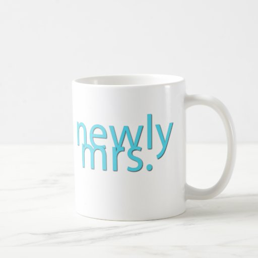 newly mrs / blue coffee mug