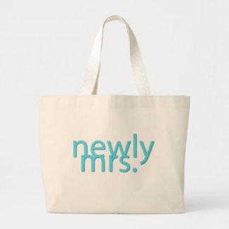 newly mrs / blue jumbo tote bag