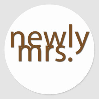 newly mrs.-brown classic round sticker