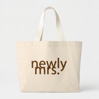 newly mrs.-brown jumbo tote bag