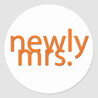 newly mrs-orange classic round sticker
