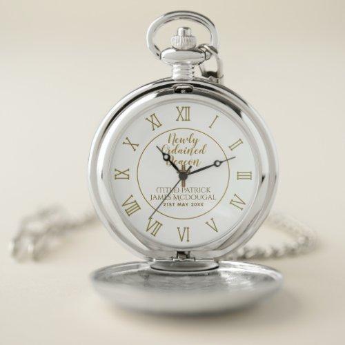 Newly Ordained Deacon Gift Scripture Verse Custom Pocket Watch