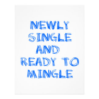 Newly Single and Ready to Mingle - 1 - Blue Letterhead Template