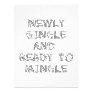 Newly Single and Ready to Mingle - 1 - Gray Custom Letterhead
