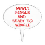 Newly Single and Ready to Mingle - 1 - Red Cake Toppers